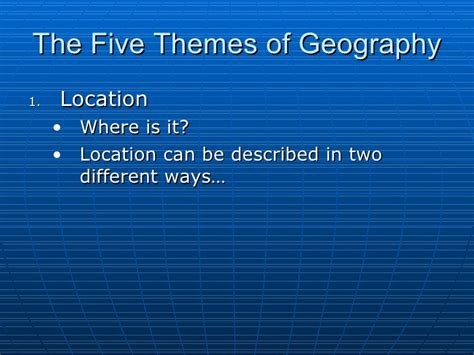 five themes of geography on germany location in five themes of geography maps location