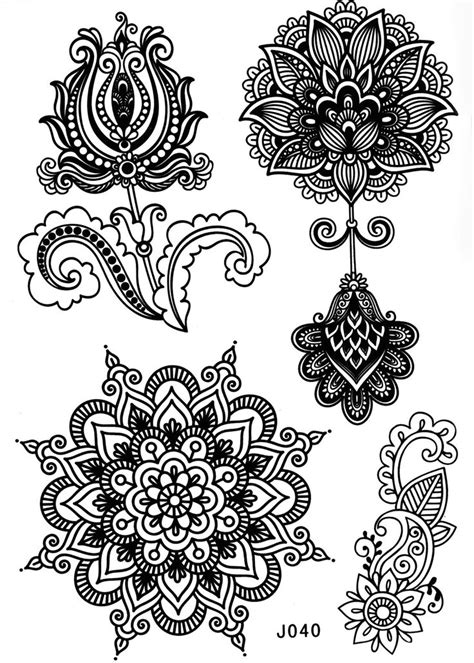 tattoo mandala tribal mandala tattoo temporary tattoo mandala lotus tattoo
