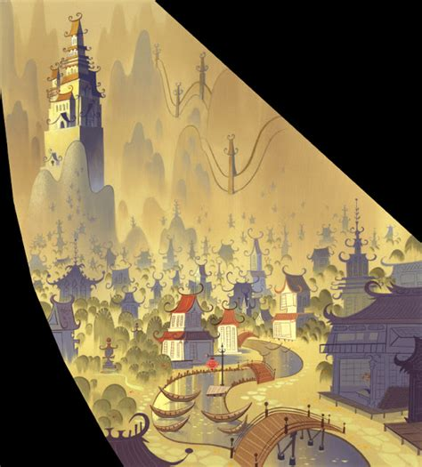 layout and background artist flooby nooby samurai jack background art