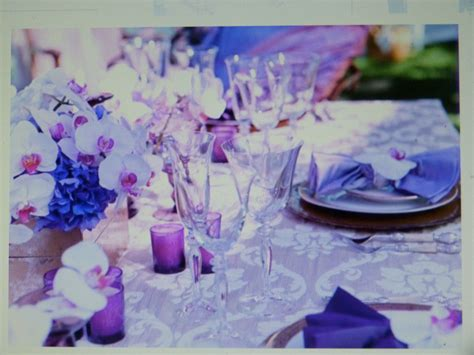 the color purple setting table decor settings purple lilac colors two of my