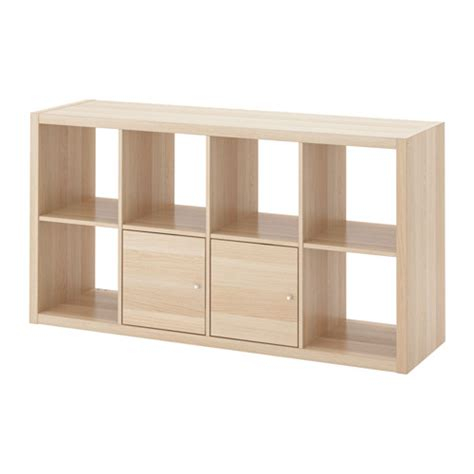shelving units with doors kallax shelving unit with doors white stained oak effect