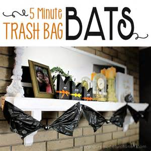 low cost halloween decorations how to make 5 minute trash bag bat halloween decorations