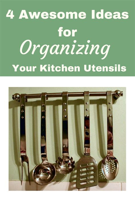 how to organize kitchen utensils 4 awesome ideas for organzing kitchen utensils easy