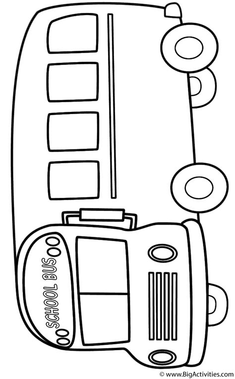 school bus side coloring page back to school