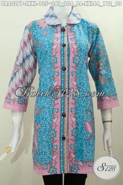 Baju Batik Perempuan Dewasa baju batik jawa untuk perempuan dewasa jual dress batik kerah bulat kombinasi dua motif