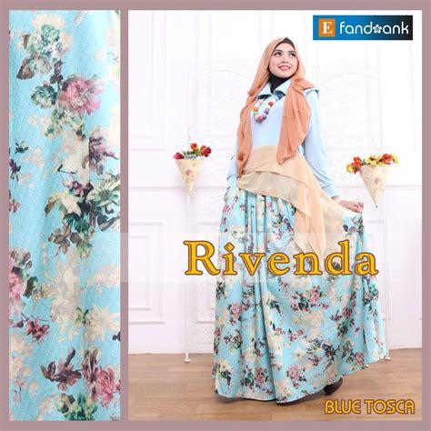 Setelan Stelan Blouse Rok Muslim Lrwita Mustard Fit L rivenda blue tosca baju muslim gamis modern