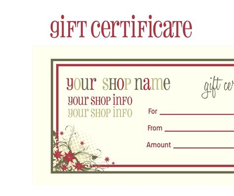 personal gift certificate template blank gift certificate template mughals