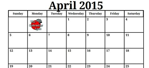April 2009 Calendar 9 Best Images Of Spot By The Month September 2015 Calendar