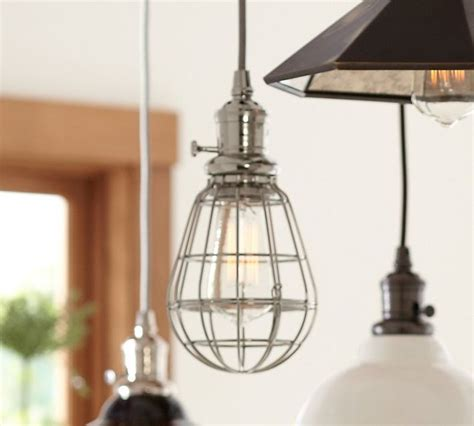 Pottery Barn Lighting Pendant Pb Classic Pendant Caged Industrial Pendant Lighting Sacramento By Pottery Barn