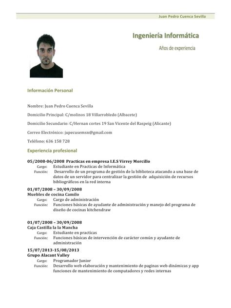 Modelo Curricular Pdf Modelo De Curriculum Vitae 2014 Para Descargar Curriculum Vitae Newhairstylesformen2014