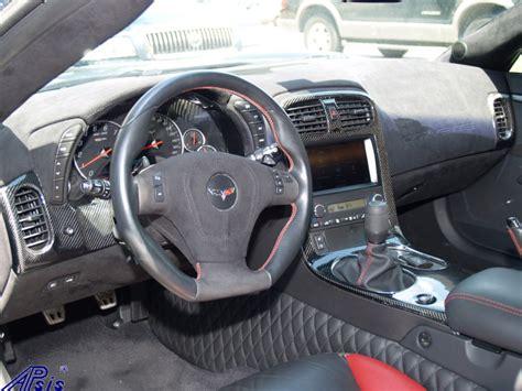 C6 Interior by Lamination C6 Corvette Black Carbon Dashes
