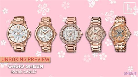 Casio Sheen She 3803pg 9a Rosegold unbox preview casio sheen gold pink gold module