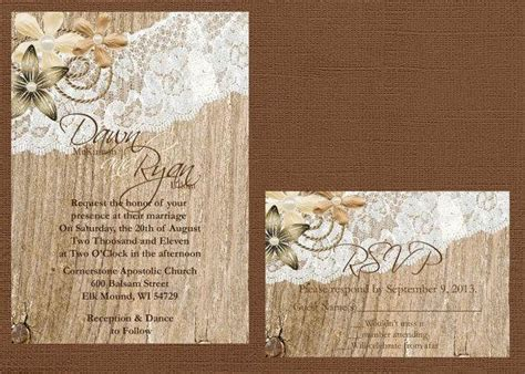 rustic wedding invitation wood and lace wedding invitation rustic lace wedding invitation lace and wood wedding invitation vintage lace wedding