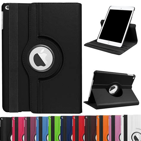 Pro 9 7 Inch Smart 360 Rotating Horizontal Vertical Option 3 360 rotating leather kickstand cover for apple 9