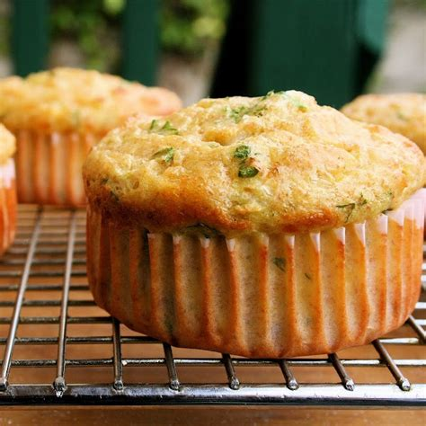 2 low carb cottage cheese muffins with cheddar