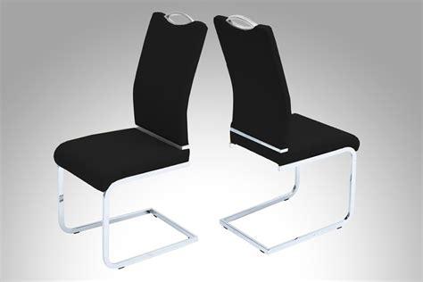 chaises de salle à manger design chaises salle 224 manger noires meuble oreiller matelas