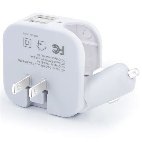 usb 2 1 wall charger usb ports 2 in 1 portable travel charger adapter foldable
