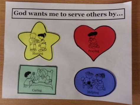 themes about serving god serving others primary pinterest