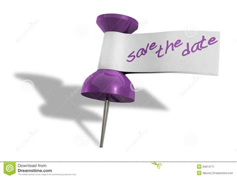 save the date thumbtack stock image image of message