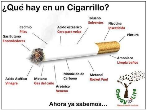 que sustancias tiene el cigarro y sus efectos perjudiciales mira lo que sucede cuando dejas de fumar