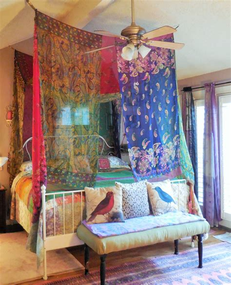 Boho Bed Canopy Reserved For Tina Bohemian Bed Canopy Room Tent