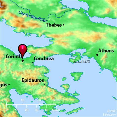 map of corinth bible map corinth