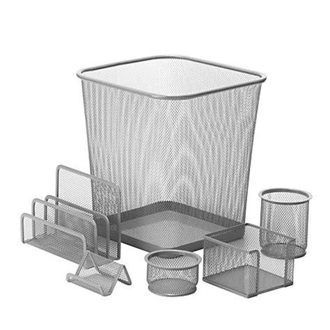honey can do desk honey can do 6 mesh desk organizer set silver by