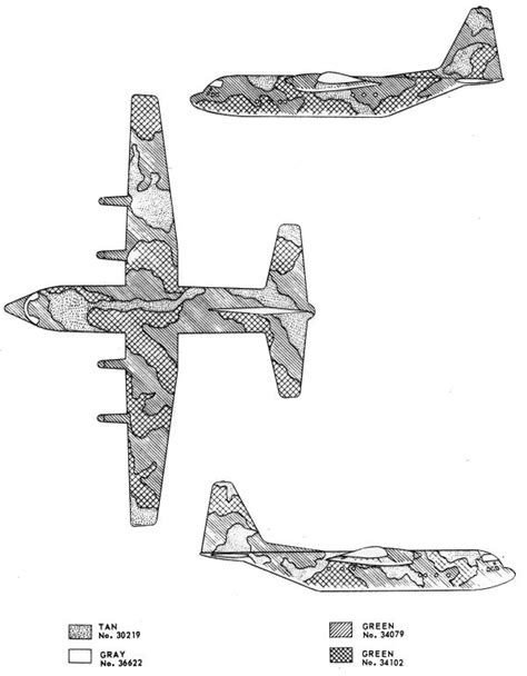 lockheed c 130 hercules southeast asia camouflage color profile and paint guide
