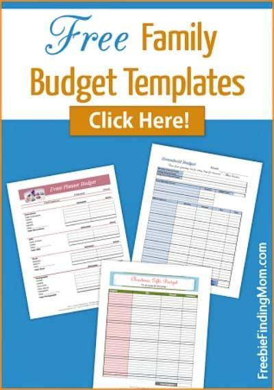 Family Budget Template Printable