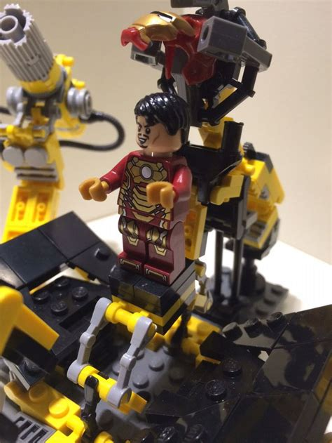 real lego iron man custom suit gantry jarvis deluxe