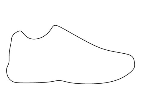 shoe templates shoe pattern use the printable outline for crafts
