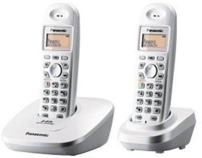 Panasonic Cordless Wireless Phone Kx Tg3612 buy panasonic single line 2 4ghz kx tg3612 bx1 digital cordless telephone white on