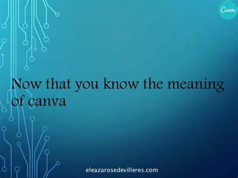 Canva Meaning | how to use canva by ella