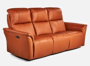 sofa 3 places inclinable 233 lectrique en cuir d elran