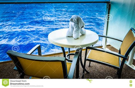 dog balcony bathroom towel dog on cruise ship balcony stock photo image 79008131