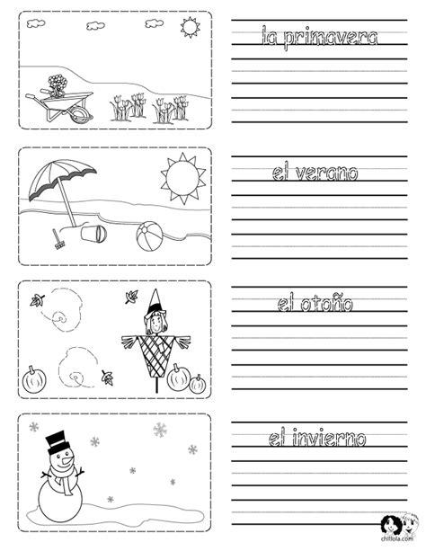free printable handwriting worksheets in spanish printable worksheet on the seasons in spanish with