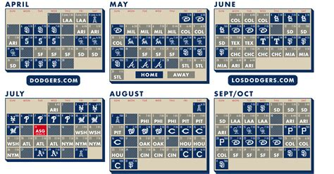 Dodger Calendar Giveaways - image gallery los angeles dodgers 2016 schedule