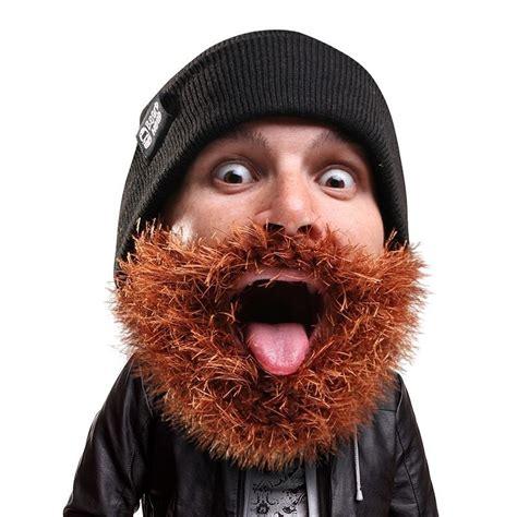 beard heads muetzen mit bart geschenkideede