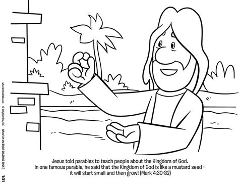 free mustard seed coloring pages