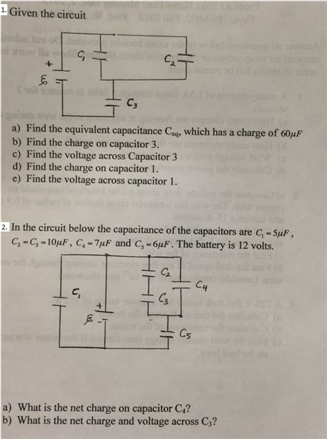 capacitor circuit equivalent given the circuit find the equivalent capacitance chegg