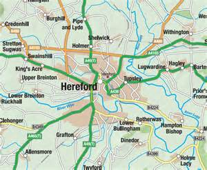 hereford map hereford and worcestershire county map map graphics