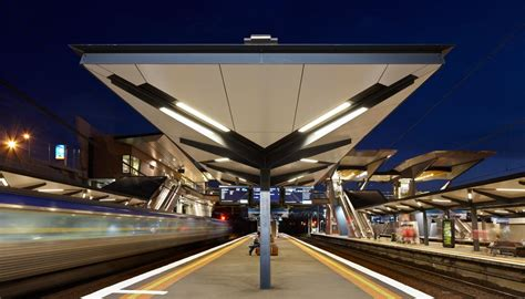 Roof Ceiling Designs north melbourne station bluescope steel