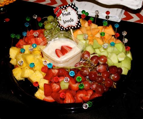 Dips For Baby Shower by Fruit Jewels With Fruit Dip Baby Shower Ideas