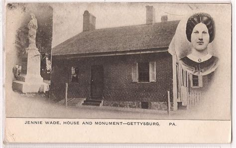 jennie wade house jennie wade house postcard history lesson pinterest