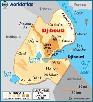 middle east map djibouti djibouti port