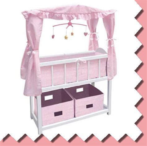 bitty baby bed badger basket girls wood doll crib cradle pink bed gr8 4