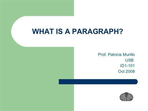 what is a what is a paragraph