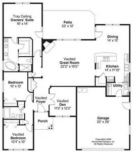 Square Feet Of 3 Car Garage House Plans 1100 1400 Square Feet 3 Bedroom 1 Story 2