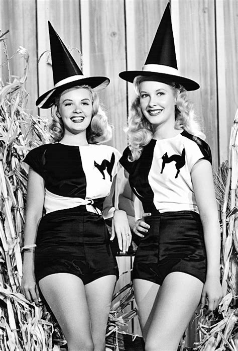 classic hollywood witches vintage halloween 1950s pin up old hollywood witches