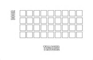 classroom seating chart template 10 exles in pdf